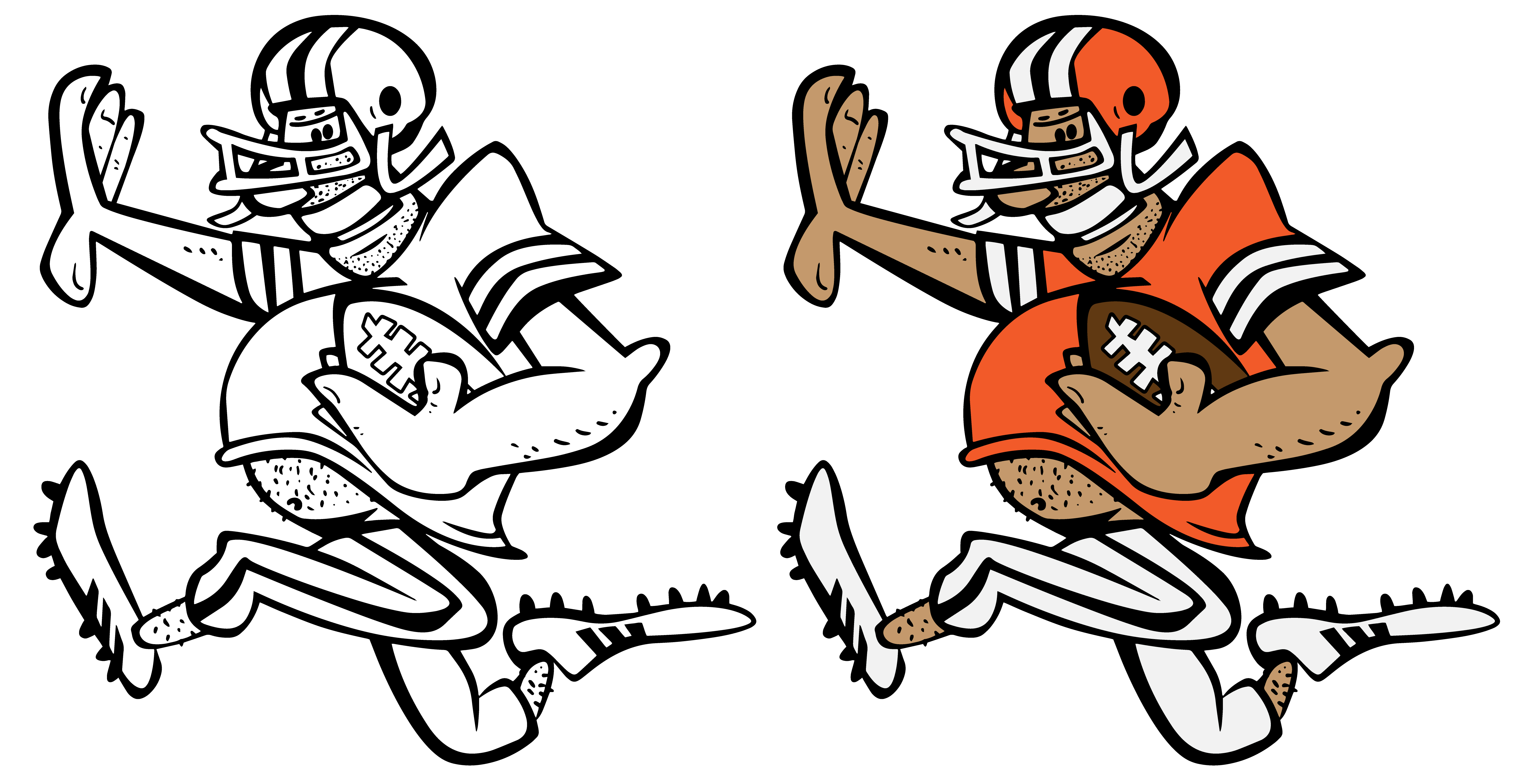 Funny Football Player Cartoon Vector Graphic Illustration.