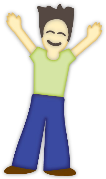 Arms up clipart.