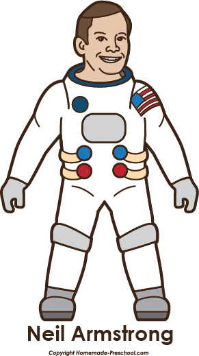 Neil armstrong clipart.