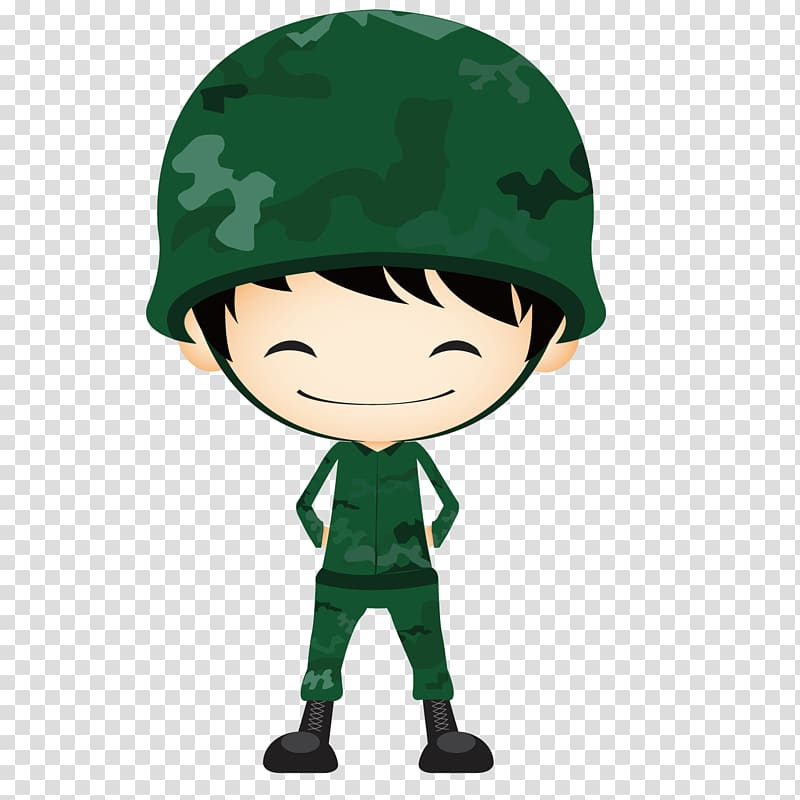 Male soldier illustration, Army Soldier , Cute soldier.