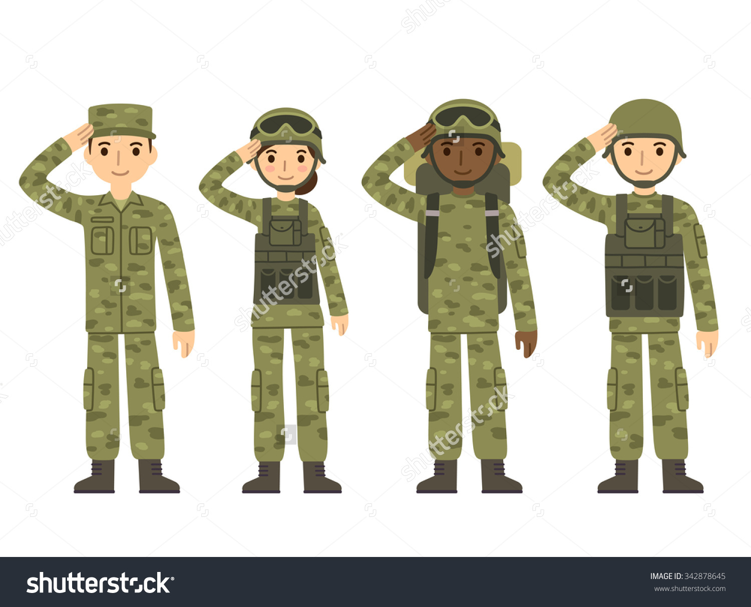 Cute Soldier Clipart.