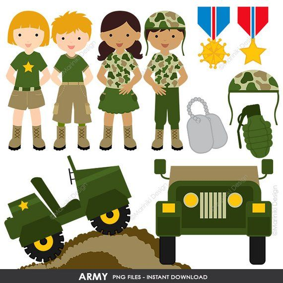 Army Clipart, Military vector graphics, Patriot Digital Clip.