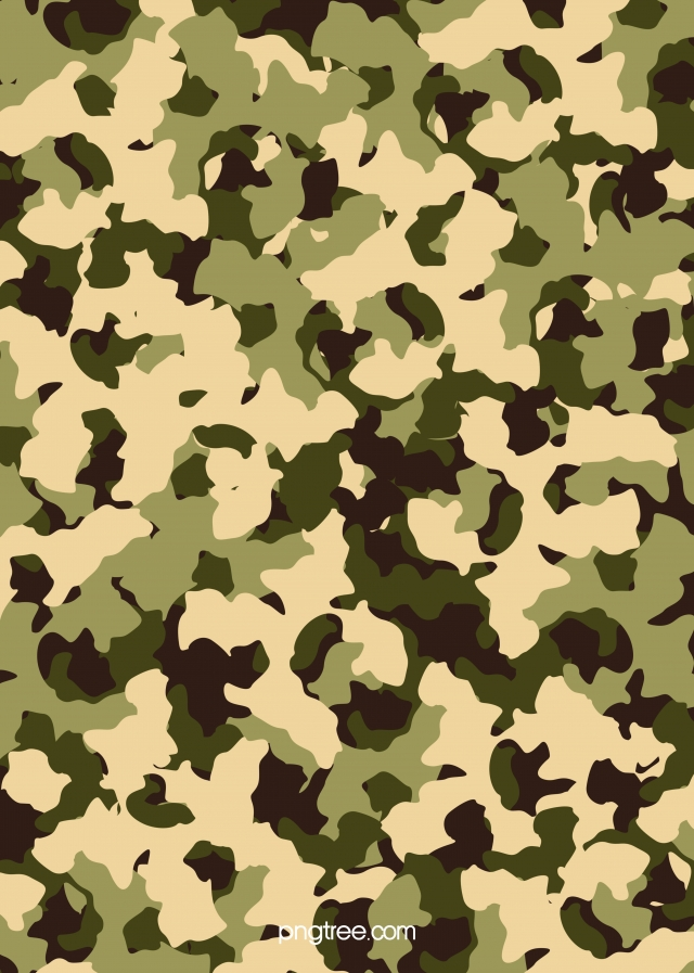 Vector Green Military Camouflage Texture Background Texture.