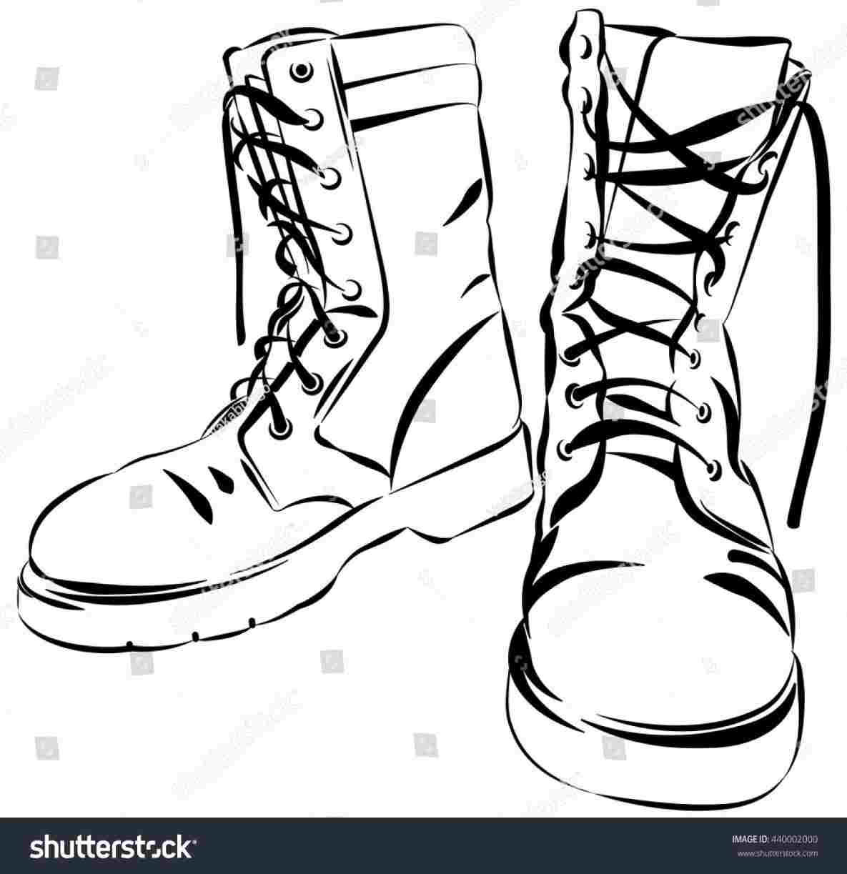 Combat Boots How To Draw Boots.