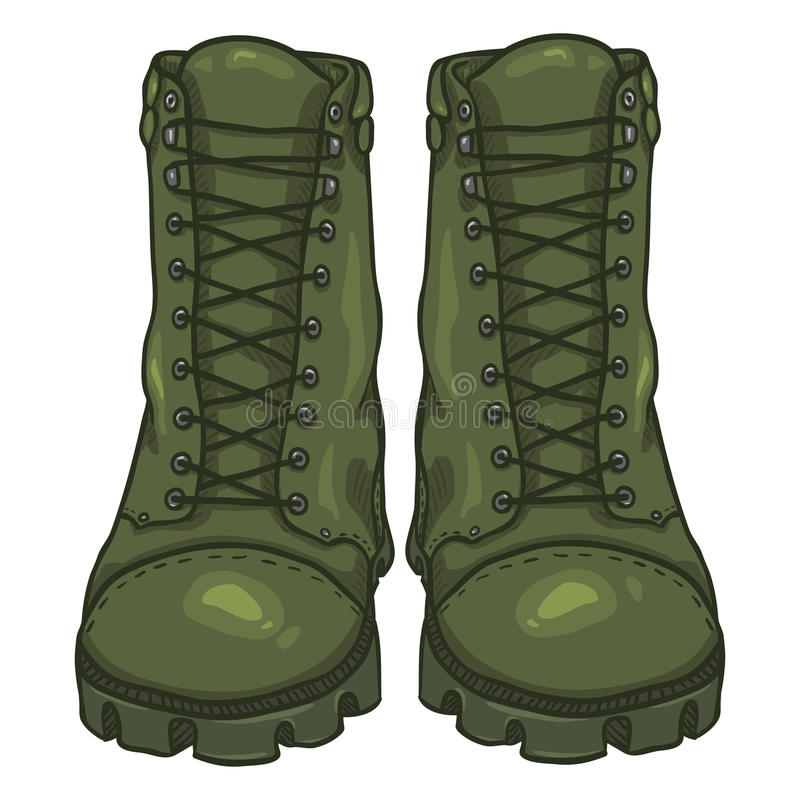 Army Boots Stock Illustrations.