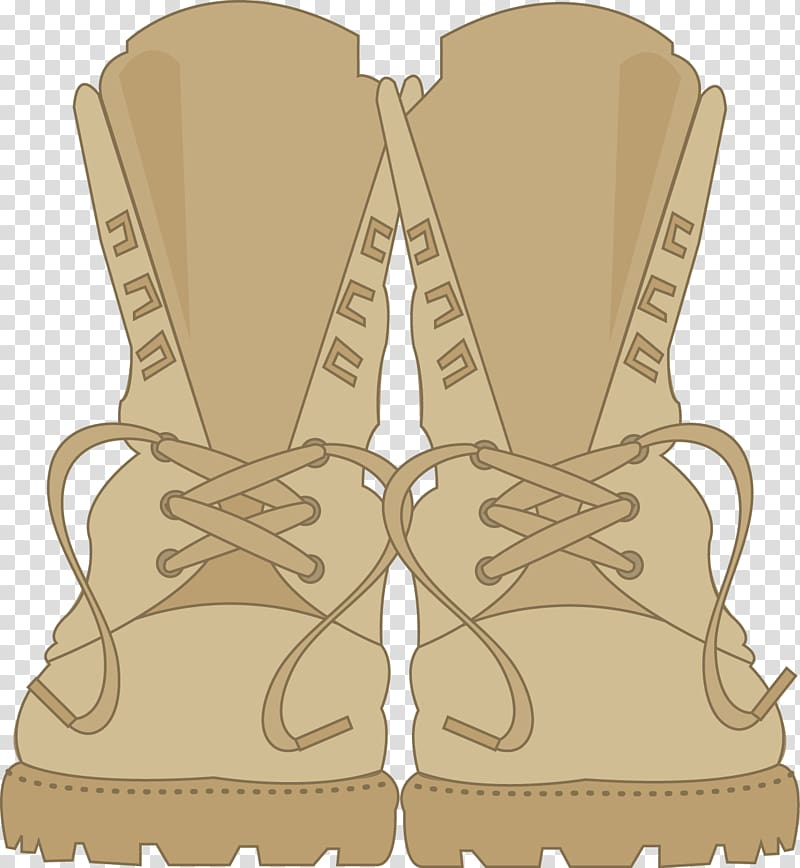 Combat boot Soldier , boot transparent background PNG clipart.