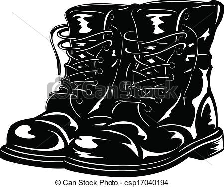 Army Boots Clipart.