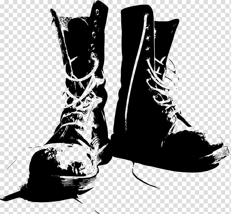 Combat boot Military Shoe , boot transparent background PNG.