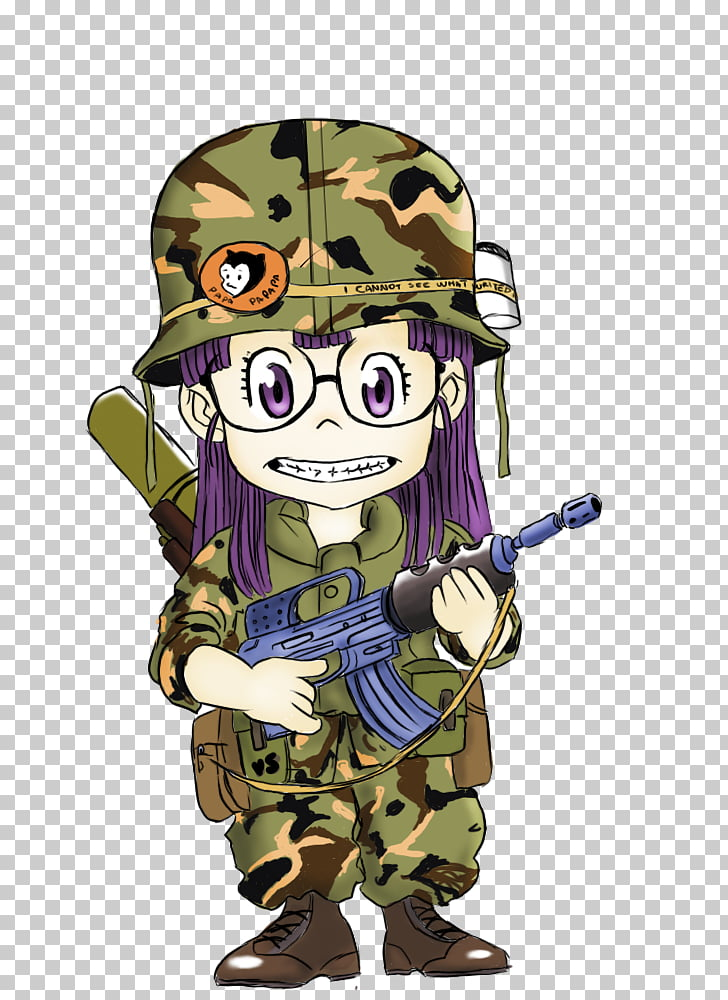 Drawing Arale Norimaki Cartoon Paper, army PNG clipart.