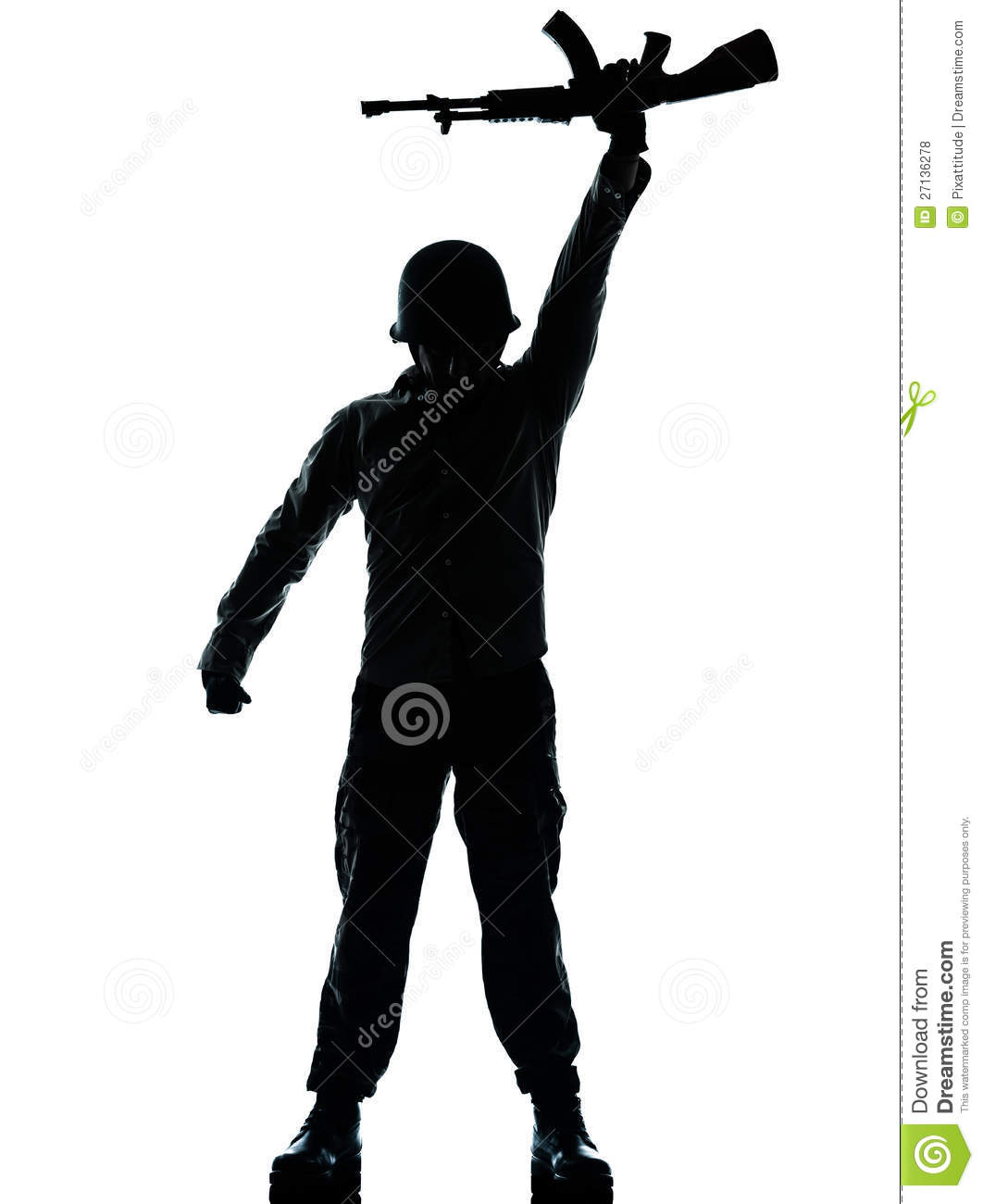 Revolutionary Army Soldier Man Royalty Free Stock Photos.