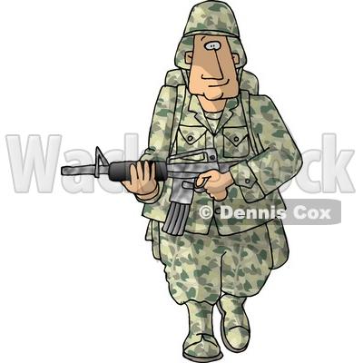 Soldier Armed with a Machine Gun.
