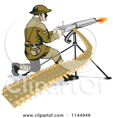 Free Military Vector Clipart Illustration Of A Camouflage Soldier.