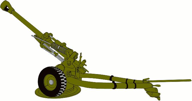 Military Cannon Clip Art.