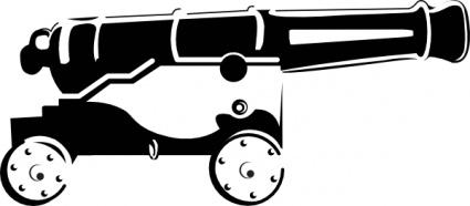 Ericortner Cannon clip art Free Vector.