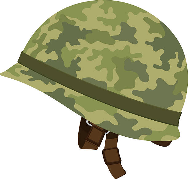 Best Army Helmet Illustrations, Royalty.