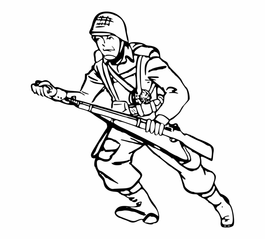 Soldier Drawing Solider.