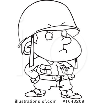 Soldier Clip Art Black And White.