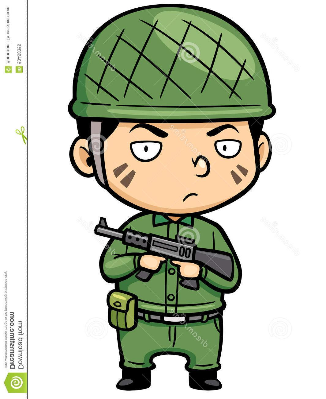 7190 Soldier free clipart.