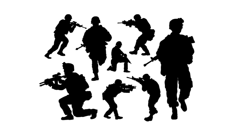 Army clipart cigar siloheete images gallery for Free.