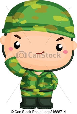 Cute Soldier Clipart.