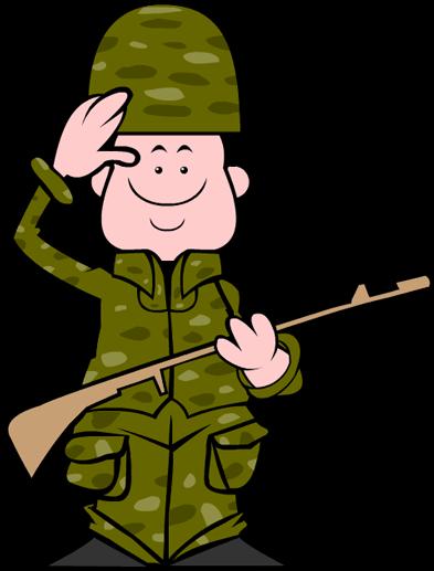 Clip Art Veterans Day Soldier.