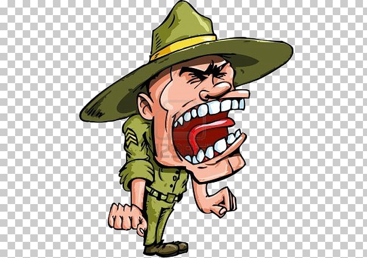 Drill instructor Sergeant graphics, Soldier PNG clipart.