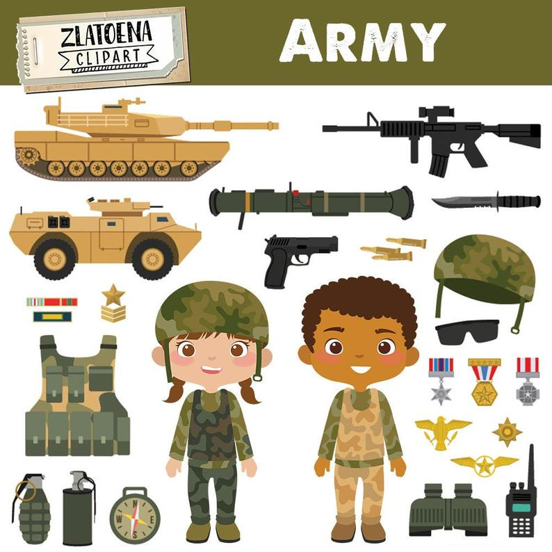 Army Clipart Military vector graphics Patriot Digital Clip Art Soldier  clipart Military clipart Jeep Tank Gun clipart Soldiers graphic.