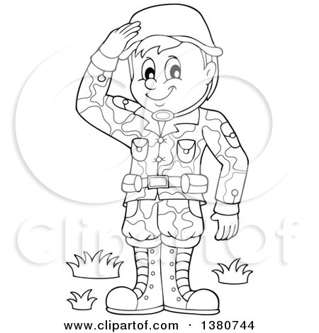 Black And White Soldier Clipart.