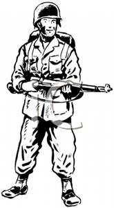 Free Soldier Clipart Black And White, Download Free Clip Art.