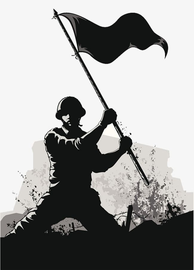 Army Ppt Soldier Black And White Silhouette Illustration PNG.