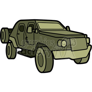 military armored scout vehicle clipart. Royalty.
