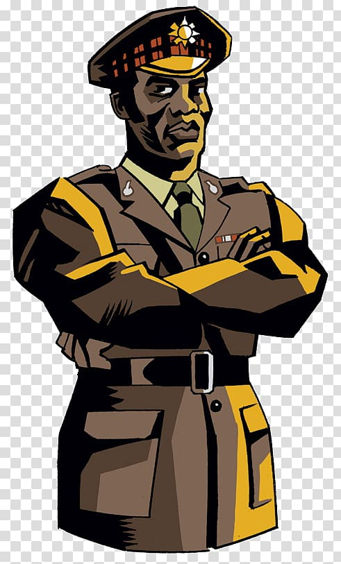 Army officer Character Military uniform Brigadier Lethbridge.