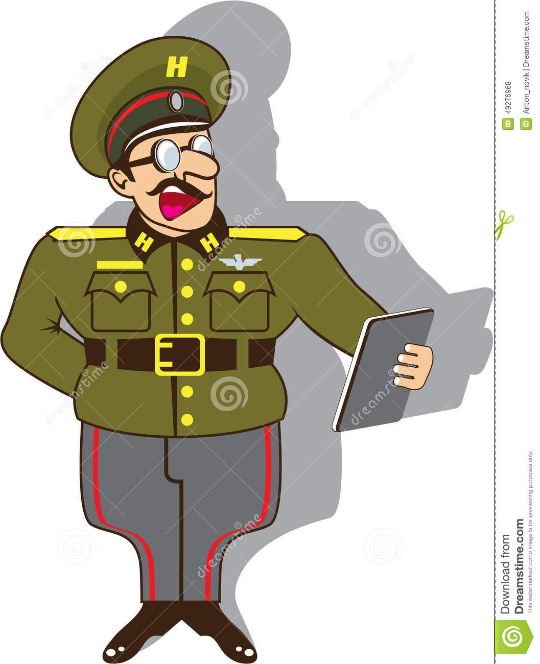 Military Officer Clipart.