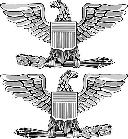 US Army Colonel Rank insignia Vinyl Transfer Decal Sticker3.8