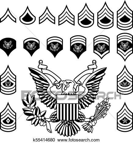 Army Military Rank Insignia Clipart.