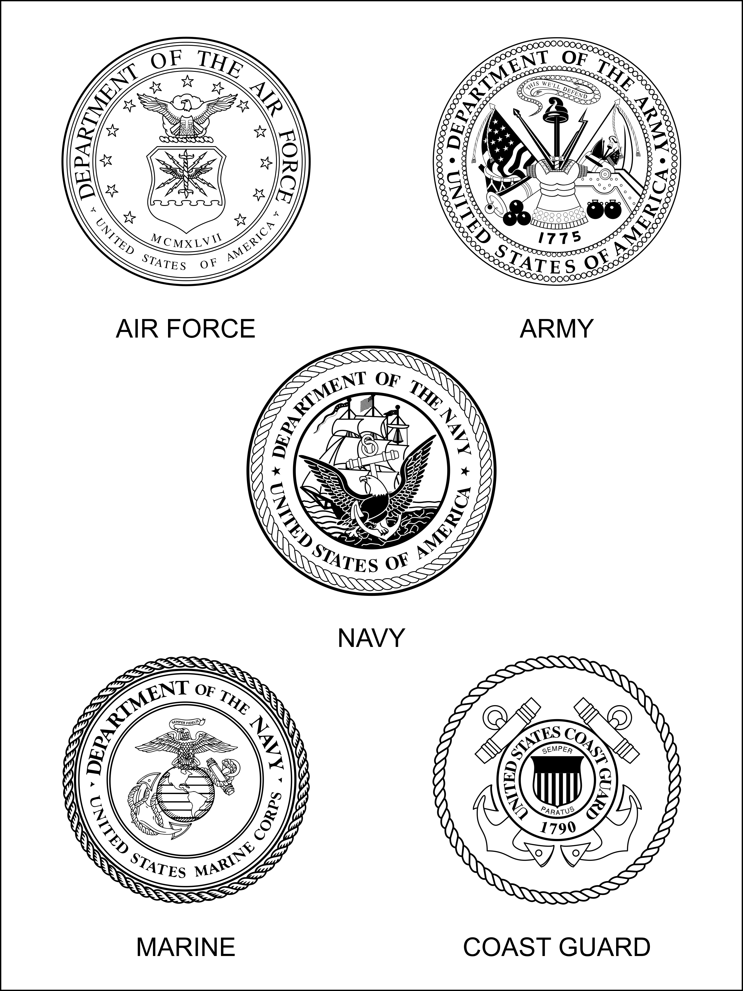 Military Logos Clipart.