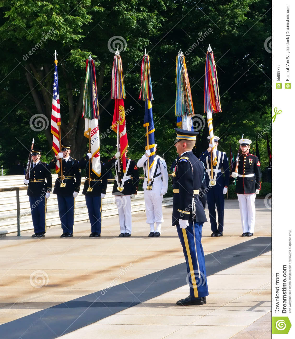 Army color guard clipart.