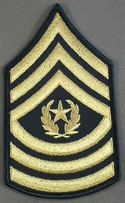 US Army Large Sleeve Rank Insignia Command Sergeant Major E.