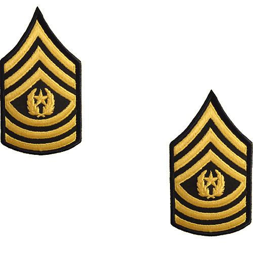 Army Chevron: Command Sergeant Major.