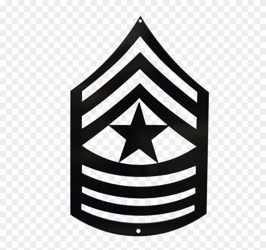 Command Sergeant Major Rank Clip Art.