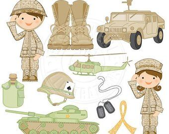 Army Clip Art , Army party kids digital clipart, Camouflage.