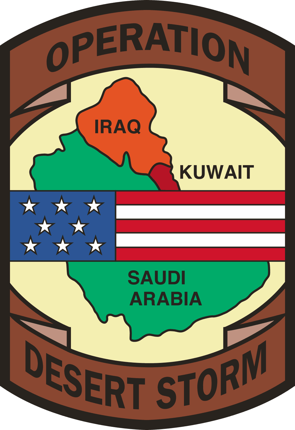 Operation Desert Storm with Flag.