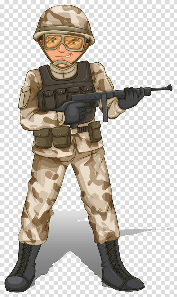 Soldier holding rifle illustration, Soldier , Soldiers armed.