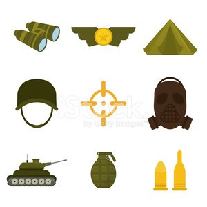 Army design. Clipart Image.