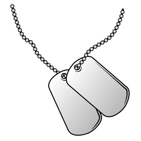 Military Dog Tags Vector Illustration.