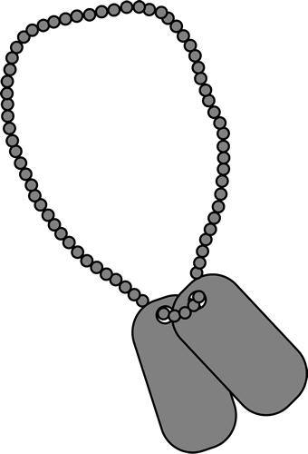 Army Dog Tags Clipart.