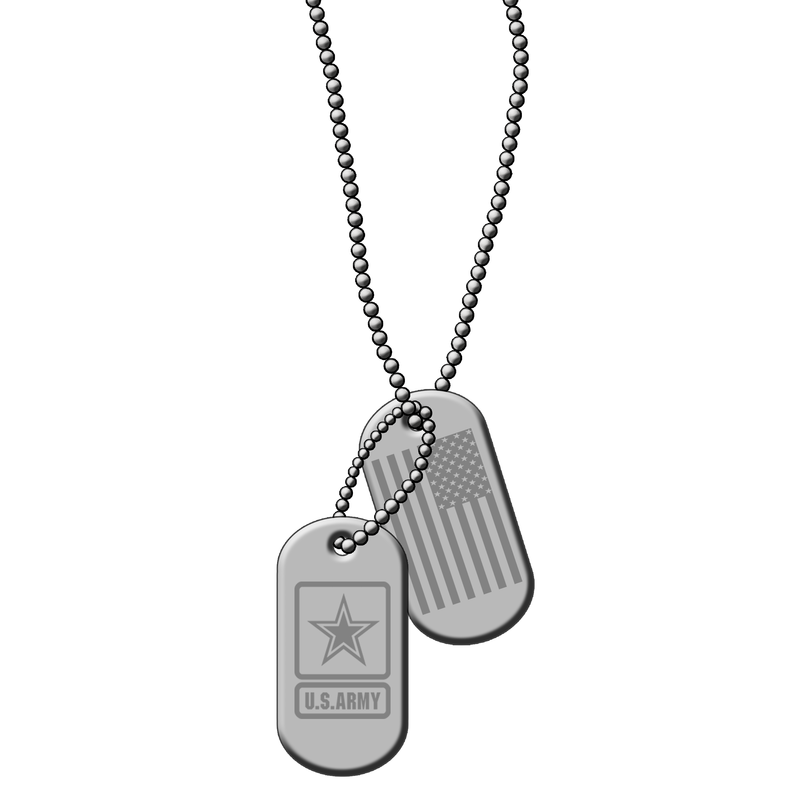 Dog tag United States Military Army Soldier.