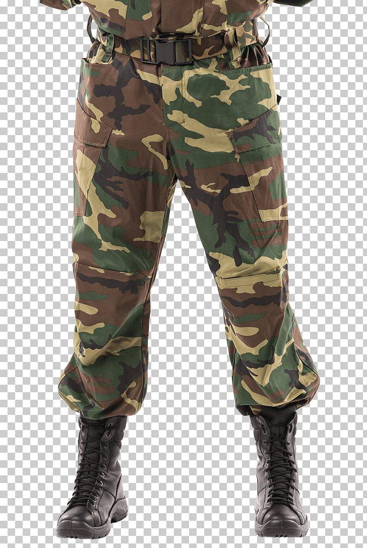 Cargo Pants Battle Dress Uniform U.S. Woodland Camouflage PNG.