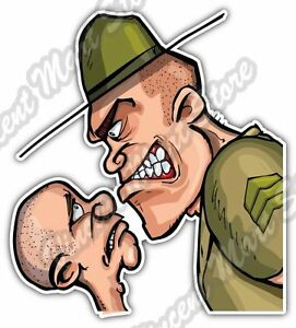 Details about Angry Looking Army Drill Sergeant Military Car Bumper Vinyl  Sticker Decal 4\