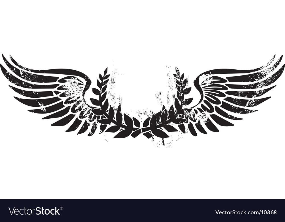 Army laurel emblem.